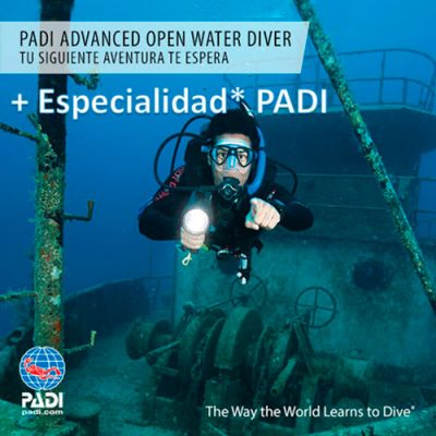 Imagen del productos Curso Advanced Open Water Diver + Especialidad PADI